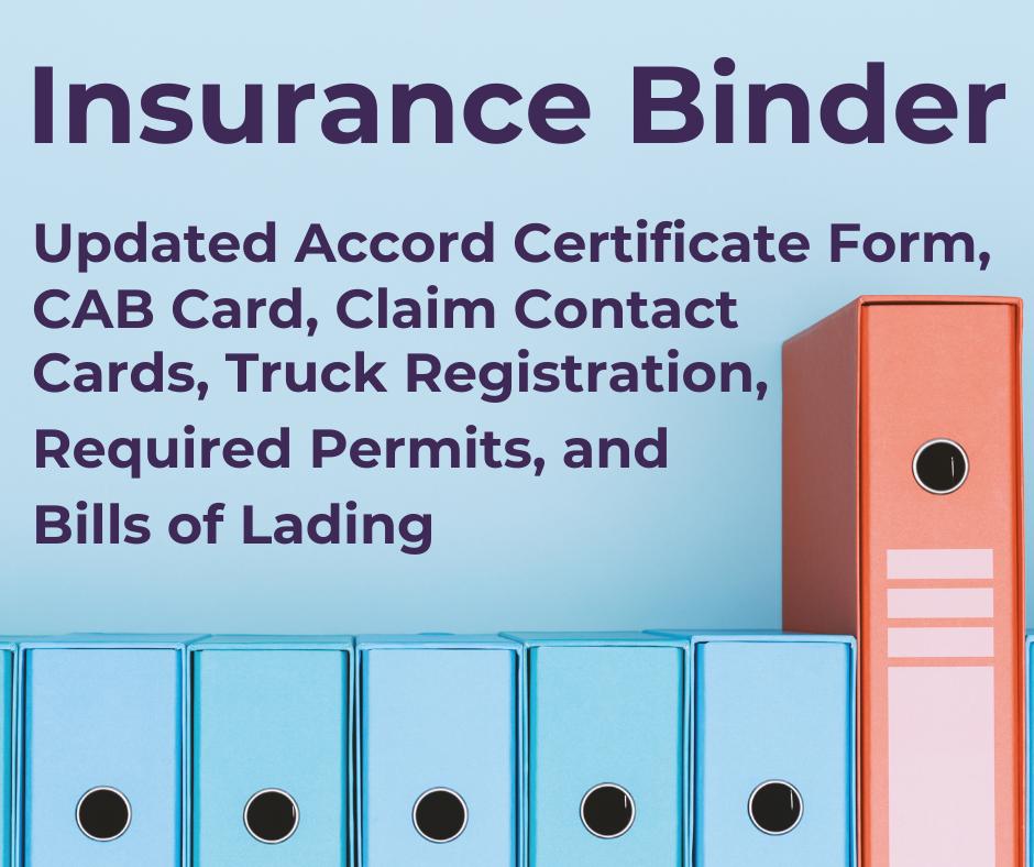 Claims Kit - Insurance Binder
