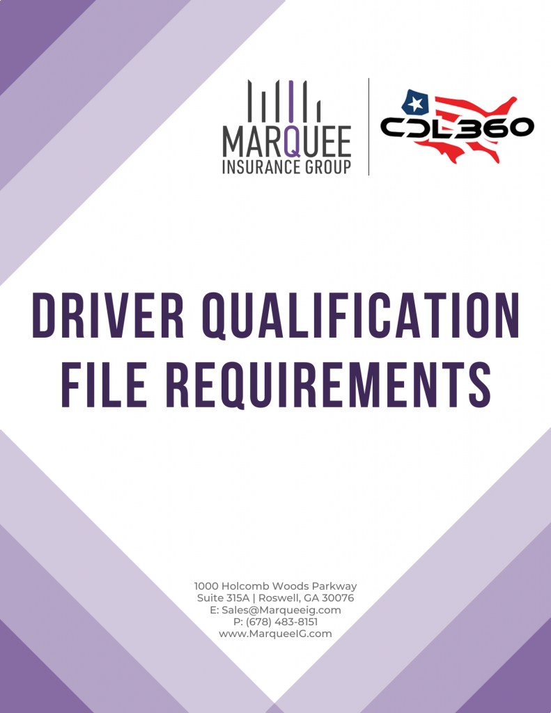 DQF - Driver Qualification Requirements
